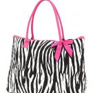 Belvah zebra print large black/white tote bag ZBQ2705(BKPK) handbag purse BS720