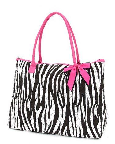 Belvah zebra print large black/white tote bag ZBQ2705(BKPK) handbag purse BS720
