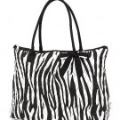Belvah zebra print large black/white tote bag ZBQ2705(BKBK) handbag purse BS720