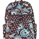 Belvah quilted floral backpack book bag QF2716(BRTQ)
