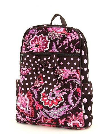 Belvah quilted floral backpack book bag QF2716(BRPK)