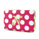 "Ladies initial ""N"" polka dots thick flat wallet MNPC57112(FSLM-N) BS100"