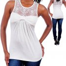 Ladies medium beige blouse with lace top women's fashion clothes T1973-S top