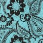 Belvah quilted paisley brown & blue lunch bag box QPF27LT13(PKBR) BS399