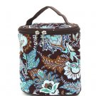 Belvah quilted paisley brown & turquoise lunch bag box QF27LT13(BRTQ) BS399