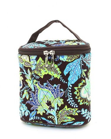 Belvah quilted paisley brown & lime green lunch bag box QF27LT13(BRLM) BS399