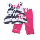 New girls size 4T butterfly pants and top B596