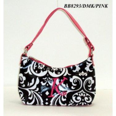 Damask initial K junior girl's handbag monnogramable purse