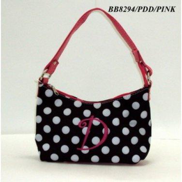 Polka Dot initial D junior girl's handbag monnogramable purse