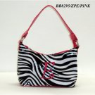 Zebra print initial E junior girl's handbag monnogramable purse