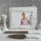 Knight in Shinning Amor 7pc wedding set guest book, pen set, toasting glasses, cake knife & server
