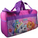 "Girls 18"" pink Paw Patrol canvas duffle bag  PK750"