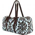 Belvah quilted damask pattern duffel bag gym bag DAQ01(TQBR)