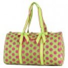 Belvah quilted monogramable polka dot duffel bag gym bag LPDQ1101(LMFS)