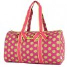 Belvah quilted monogramable polka dot duffel bag gym bag LPDQ1101(FSLM)
