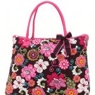 Belvah large floral print tote bag QHF2705(BRFS) handbag purse BS720