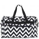 New Monagrammable black Chevron dufflel bag overnight travel D22-601-BK BS795