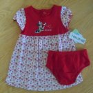 Baby girls size 6-9 months Disney Minnie Mouse dress and diaper cover