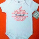 Personalized monogram baby Halloween bodysuit 6-9M pumpkin w/ name