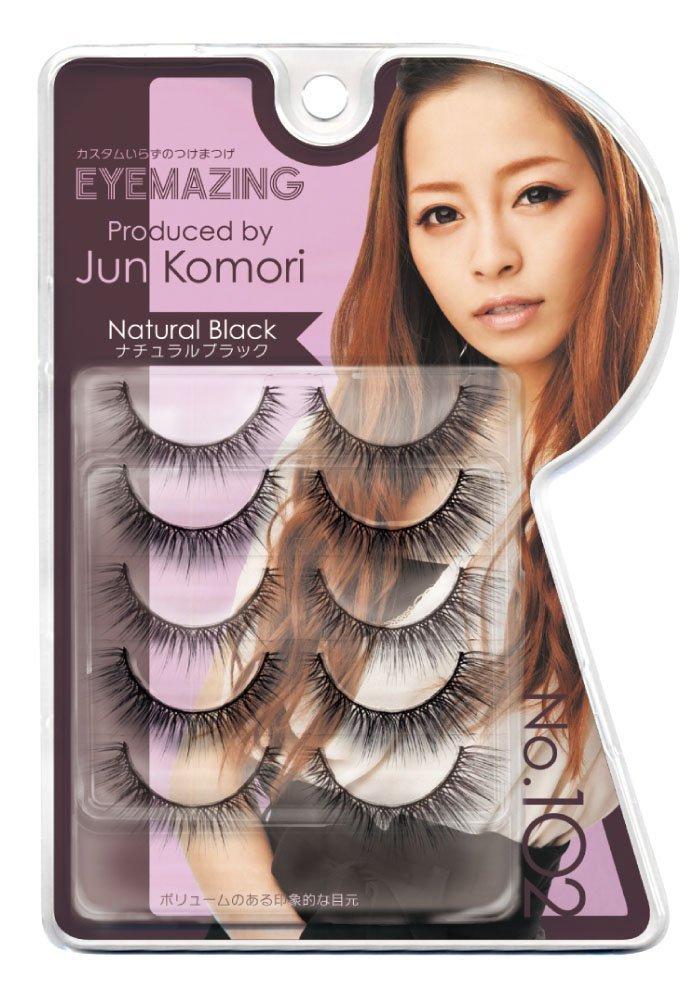 Eyemazing Jun Komori False Eyelashes- 102 Natural Black