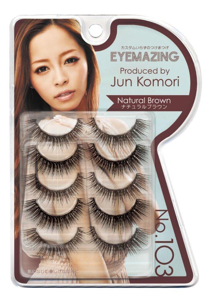 Eyemazing Jun Komori False Eyelashes- 103 Natural Brown
