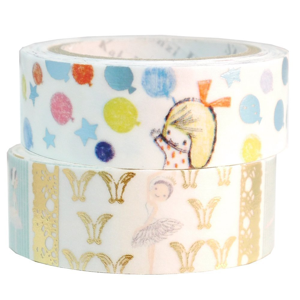 Masking Tape By Shinzi Katoh Collection Set of 2 Girl and Ballerina