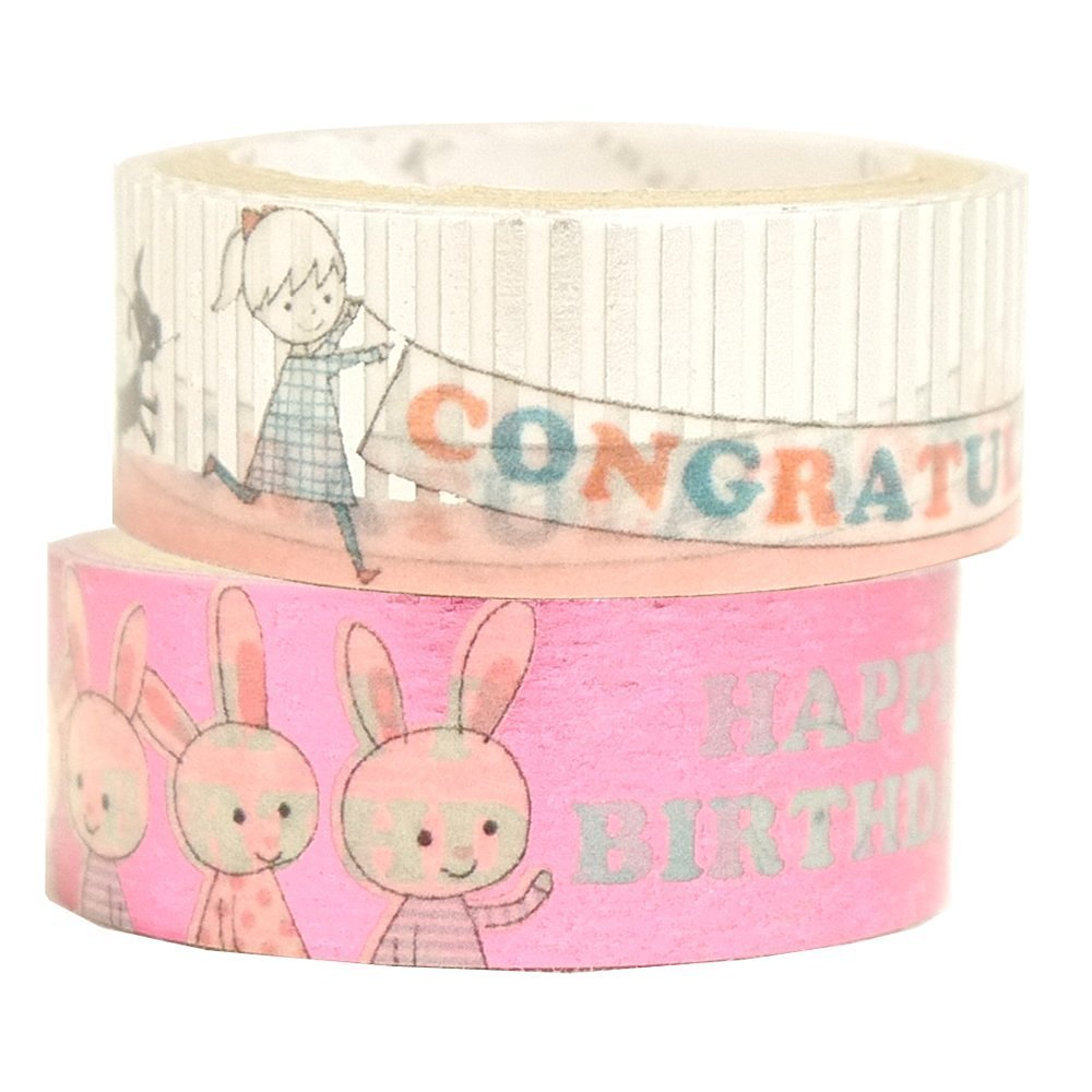 Masking Tape By Shinzi Katoh Collection Set of 2- Congrats
