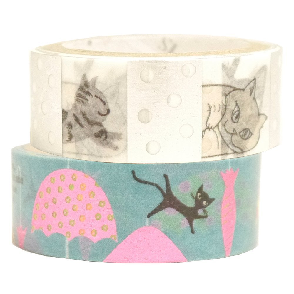 Masking Tape By Shinzi Katoh Collection Set of 2- Cats