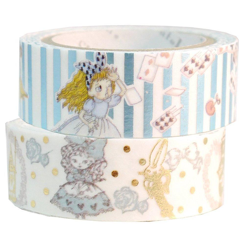 Masking Tape By Shinzi Katoh Collection Set of 2 - Alice Wonderland
