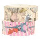 Masking Tape By Shinzi Katoh Collection Set of 2 - Alice Wonderland and Red Riding Hood