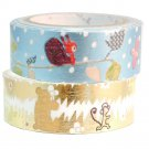 Masking Tape By Shinzi Katoh Collection Set of 2 - Animals