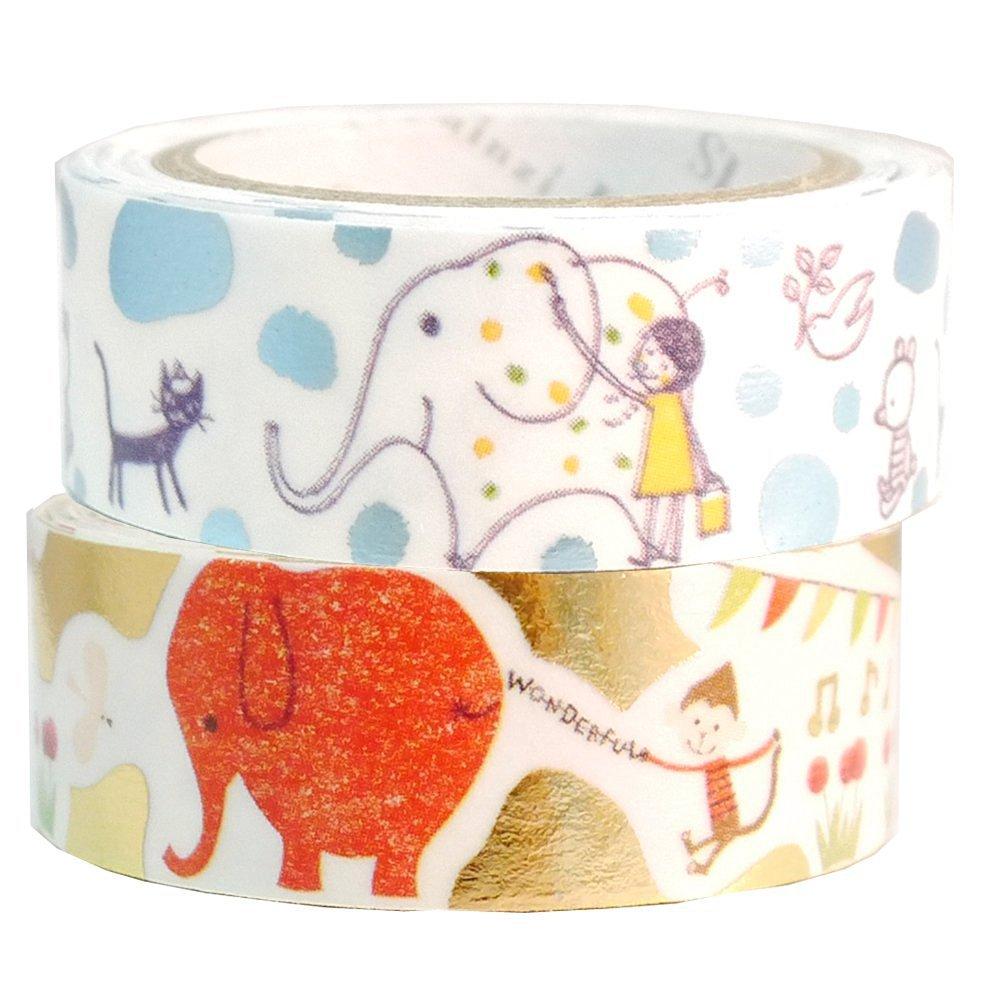 Masking Tape By Shinzi Katoh Collection Set of 2 - Elephant