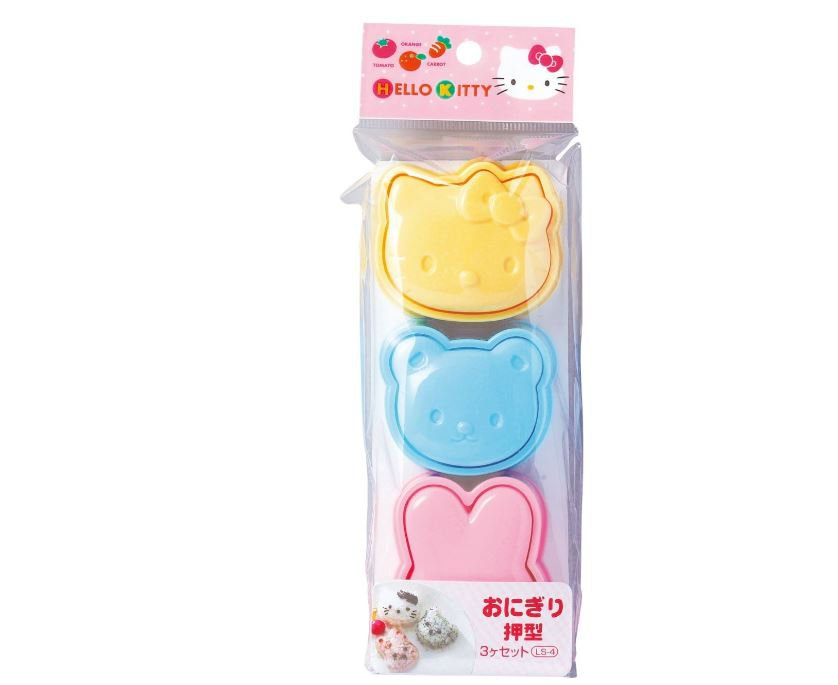 Hello Kitty Rice Mold Set - Oniguiri Bowl