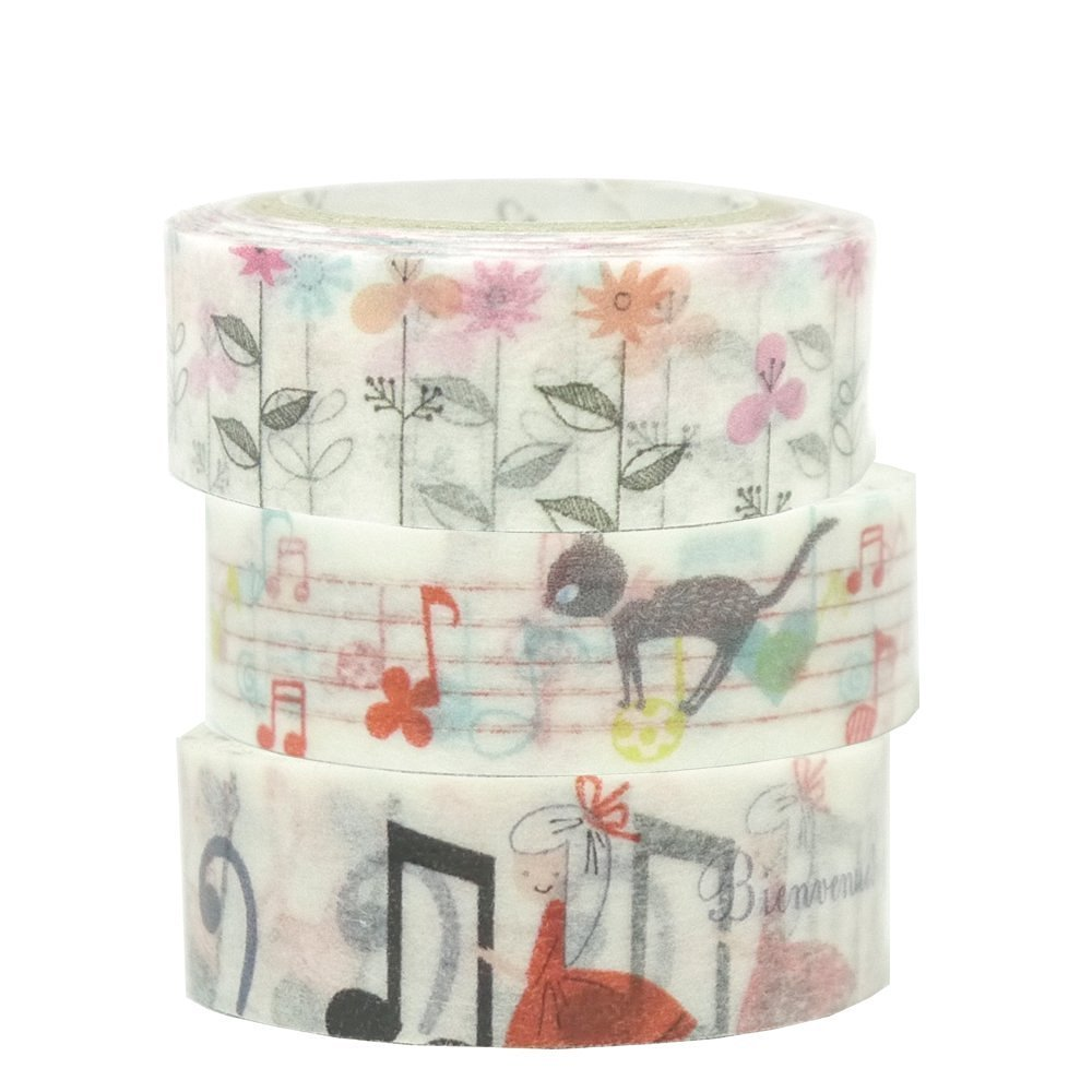 Masking Tape By Shinzi Katoh Collection Set of 3 - Cheerful Notes
