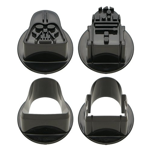 Star Wars Shapped Food Cutters - Darth Vader and R2-D2