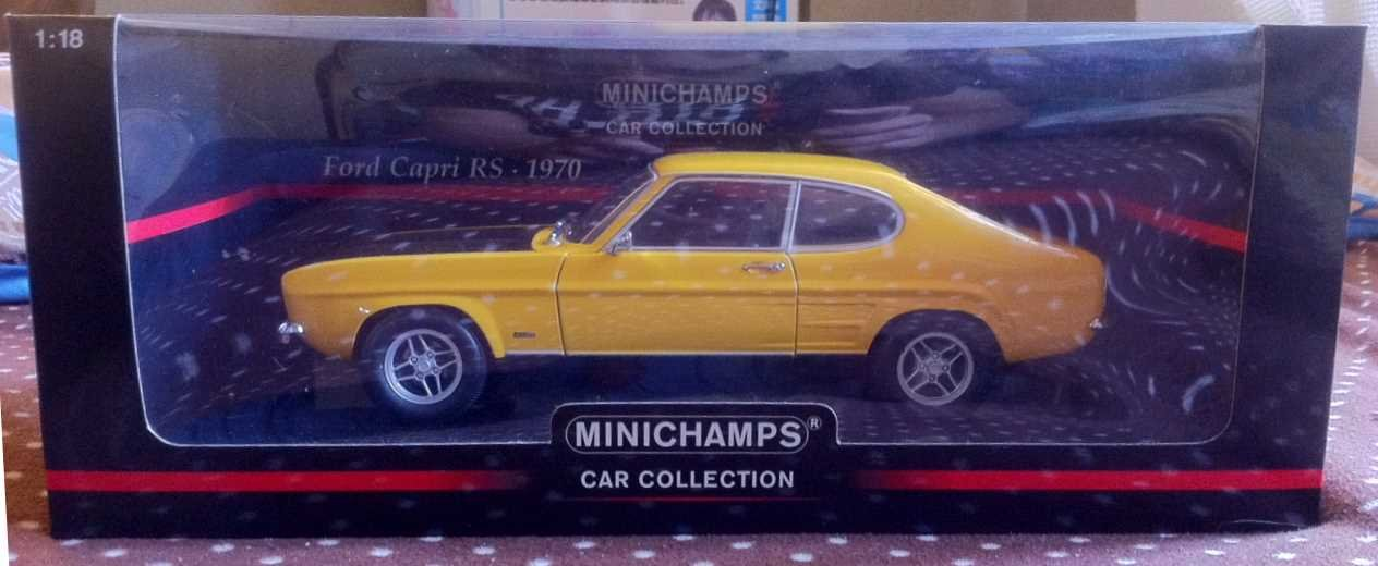 1/18 Minichamps Ford Capri RS 1970 RHD