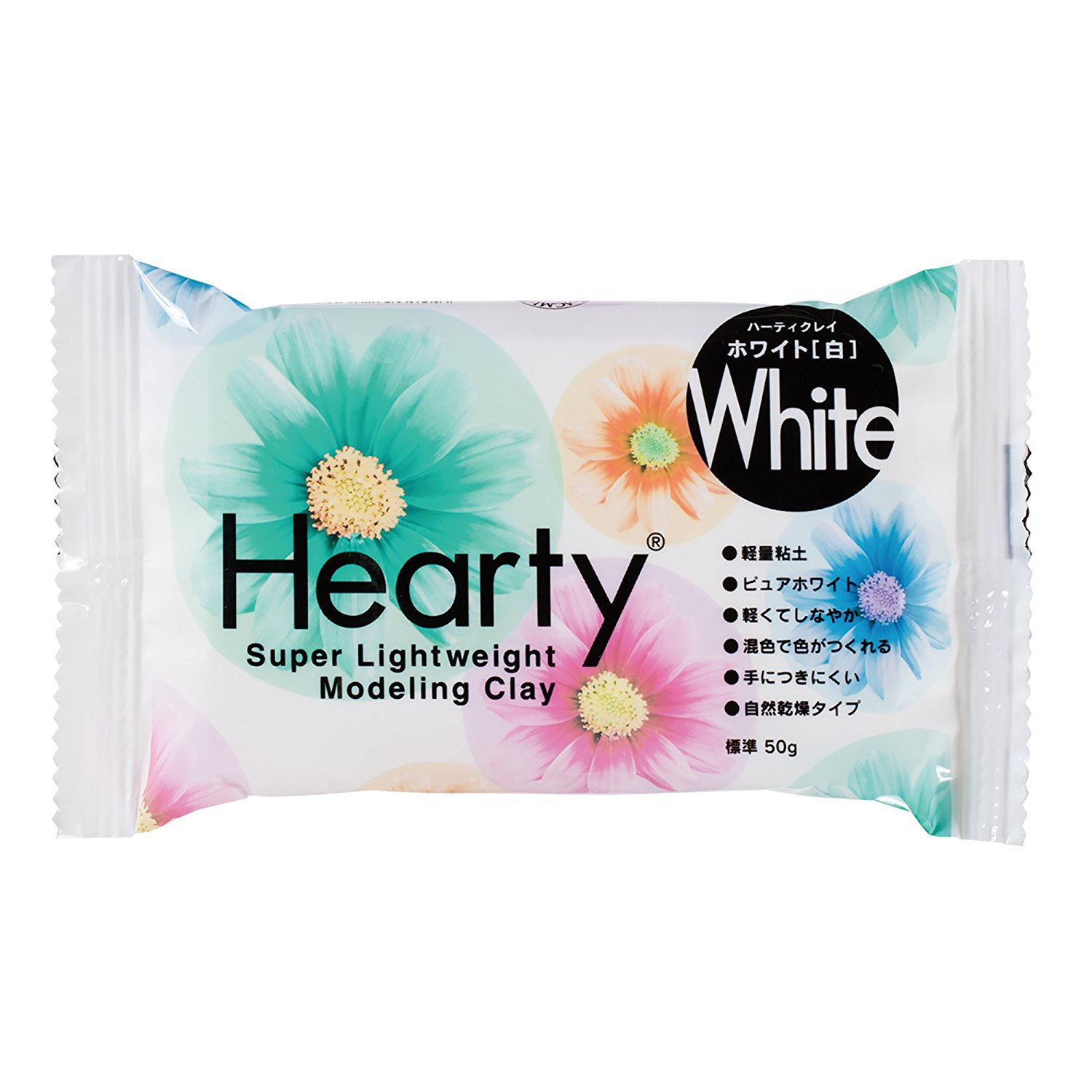 Hearty White Color Size S 50g Modeling Clay by Padico