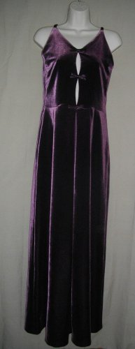 Laundry Shelli Segal 6 Small Purple A Line Polyester Spandex Long Halter Dress