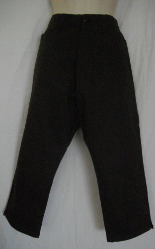 Bill Blass Stretch Jeans Dark Brown Trousers 6 Small Cotton Spandex Casual Pants