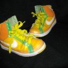 Nike Air Multicolored 6 6.5 Low Heel Sneakers Neon Pin Holes Green Yellow Shoes