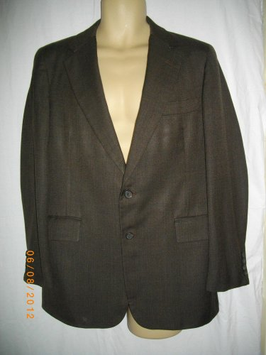 Carroll Beverly Hills Jacket Single Breasted Sport Coat Two Button Brown Blazer
