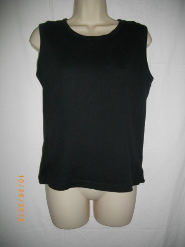 Gap Black Medium M Pullover Sleeveless Tank Top Scoop Neck Cotton Camisole