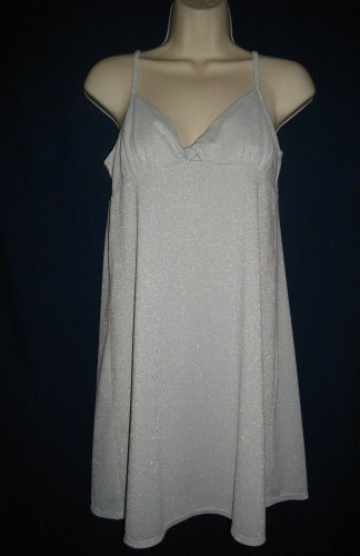 Alfani Intimates Medium Light Gray Camisole Nylon Metallic Spandex Sleepwear
