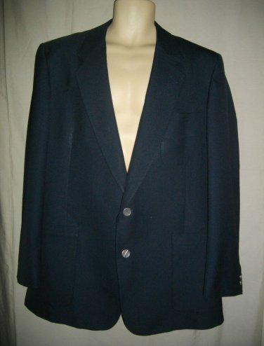 Christian Dior Monsieur Bullocks XL Single Breasted Extra Large Navy Blue Jacket