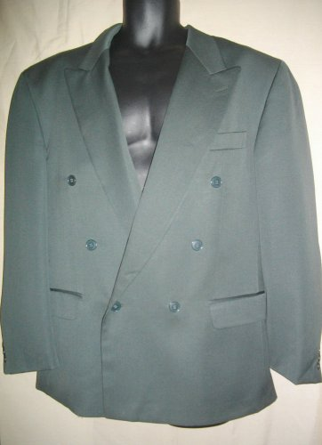 Paul Rodon Couture Zeidler 44W XL Double Breasted Wool Blazer Olive Green Jacket