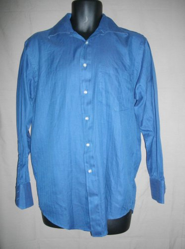 Ted Baker London Blue 15-32/33 Small Cotton Button Front Classic Shirt