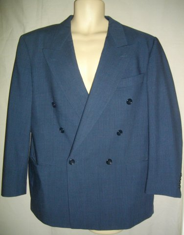 Navy Blue Medium M 38 Hugo Boss Zeus/Acropolis Double Breasted Sport Coat