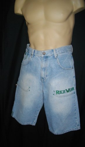 Blue Green 14 Roca Wear Boy's Casual Jean Shorts