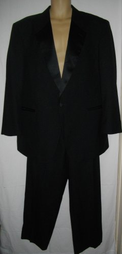 Black Suit Jean Yves 42 Slacks 46 Jacket Tuxedo