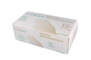Nitrile Powder Free Exam Gloves, Box of 100, Size Medium